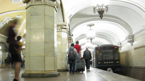 subway time lapse Stock Video Footage