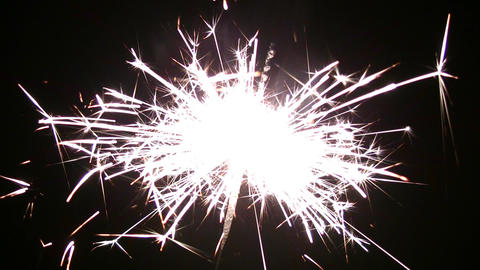 one sparkler Footage