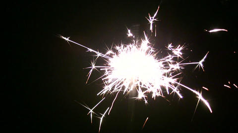 moving sparkler Stock Video Footage