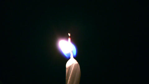 blowing candle Stock Video Footage