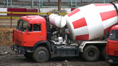 cement-mixer Stock Video Footage
