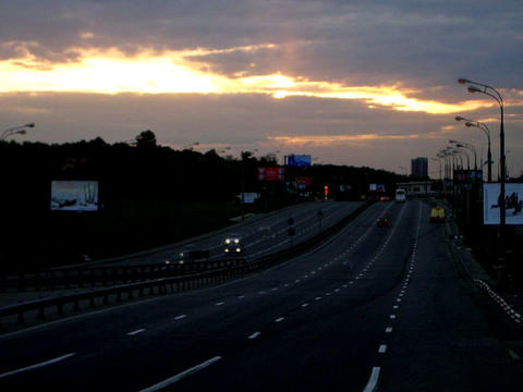 sunset traffic time lapse Stock Video Footage