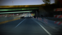 Driving on highway HD Stock Video Footage