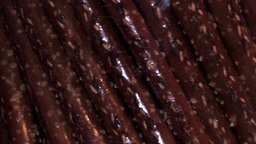 Chocolate sticks spinning Footage