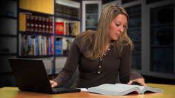 Woman Studying Stock Video Footage