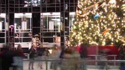 Christmas Skating Ring Stock Video Footage