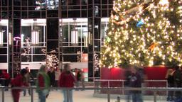 Christmas Skating Ring Footage