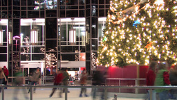 Christmas Skating Ring Stock Video Footage