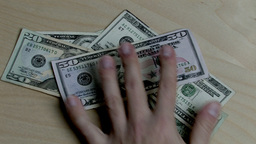 Money Push Over HD Stock Video Footage