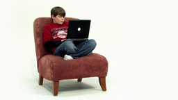 Child on couch angle view HD Footage
