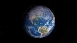 The Sun Illuminating Earth's surface Stock Video Footage