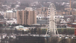 Giant Urban Sky-Wheel (High Resolution) Stock Video Footage