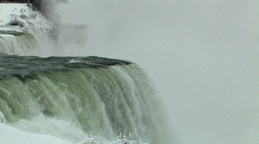 Close-Up Static View Of A Magnificent Waterfall (Low Resolution) Footage
