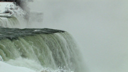 Close-Up Static View Of A Magnificent Waterfall (High... Stock Video Footage
