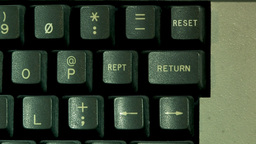 Return Button On Computer Keyboard (High Resolution) Footage