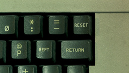 Reset Button On Computer Keyboard (High resolution) Stock Video Footage