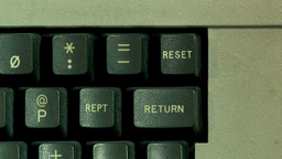 Reset Button On Computer Keyboard (High resolution) Footage