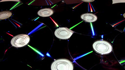 Medium Shot Of Compact Discs (CDs) Rotating With... Stock Video Footage