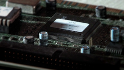Close-Up View Of A Computer Electric Circuit Board Stock Video Footage