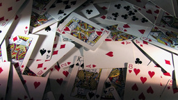 Rotating Pile Of Cards With Random Cards Added Stock Video Footage
