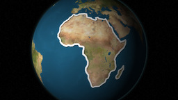Dramatic Zoom Into The African Continent's Map From A... Stock Video Footage