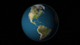 Dramatic Zoom Into Brazil's Map From A Rotating Planet Stock Video Footage
