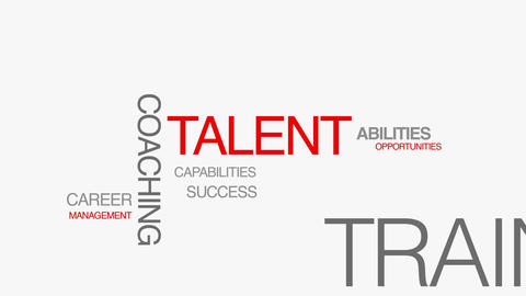 Talent Kinetic Type Text Animation Stock Video Footage