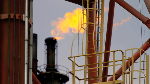 Flare Tip of Oil and Gas Industry Footage