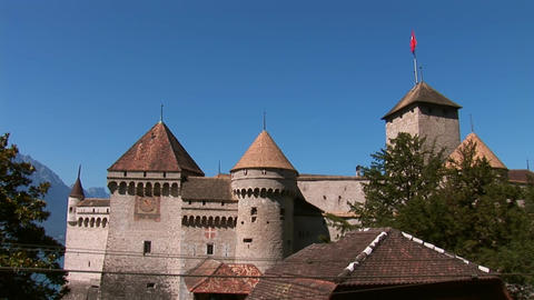 Chillon Castle a Stock Video Footage
