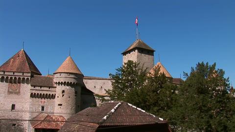 Chillon Castle a Stock Video Footage