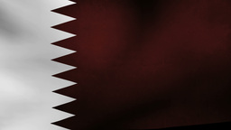 Qatar Flag stock footage
