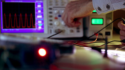 Oscilloscope Stock Video Footage
