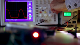 Oscilloscope Stock Video Footage