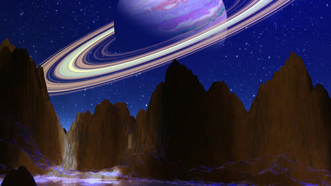Planet similar to Saturn Stock Video Footage