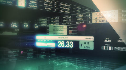 Stock Market Tickers Seamless Loop Stock Video Footage