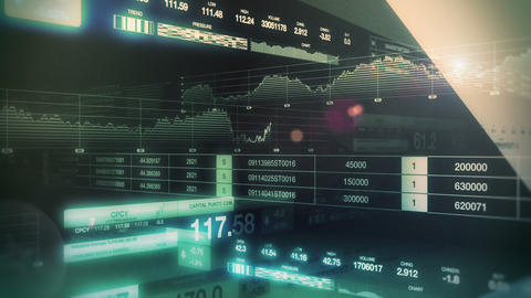 Stock Market Tickers Seamless Loop stock footage