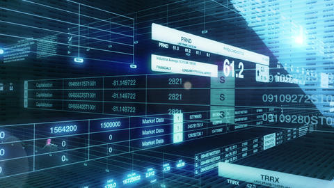 Stock Exchange Intro Animation with Alpha Matte Stock Video Footage