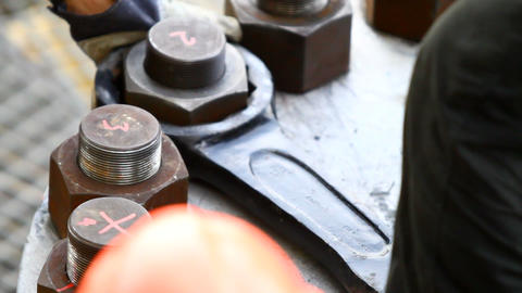 Giant Bolt and Nut Footage