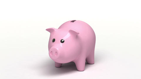 Piggy bank Stock Video Footage