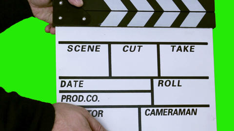 Film Slate with Clipping Path (clapper) Stock Video Footage