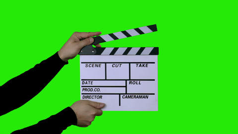 Film Slate With Clipping Path (clapper) stock footage