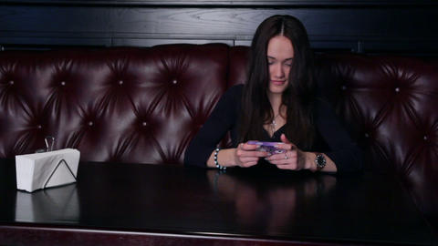 Girl Typing On The Phone Stock Video Footage