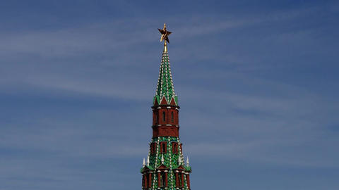 Moscow Kremlin Tower Stock Video Footage