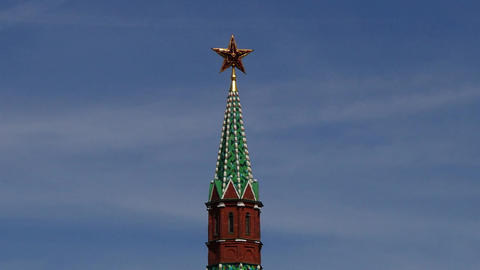 Moscow Kremlin Tower stock footage