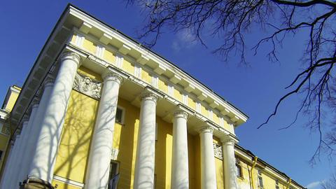 The main Admiralty in Saint-Petersburg Footage