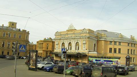 Circus on Fontanka river in Saint-Petersburg Stock Video Footage