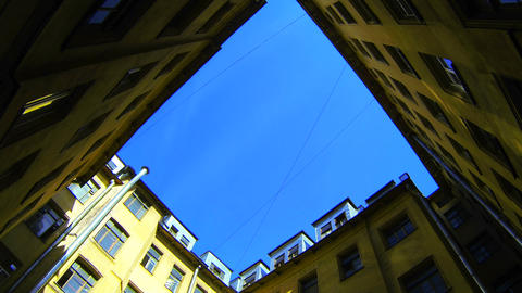 Yard-a well in Saint-Petersburg Stock Video Footage