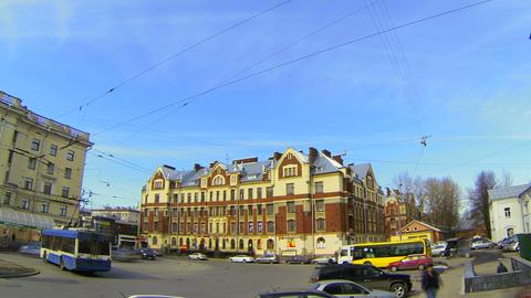 Finlyandsky railway station in St. Petersburg Stock Video Footage