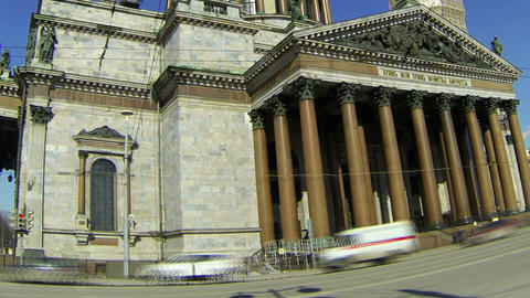 St. isaac's cathedral in St.-Petersburg Stock Video Footage