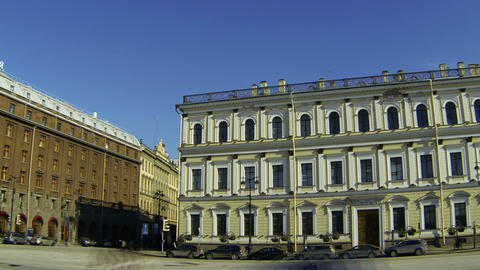Isaac's square In St. Petersburg Stock Video Footage